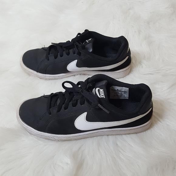 fba7cb119f16 Nike Shoes   Court Royale Leather Sneaker Swoosh Black 7   Poshmark